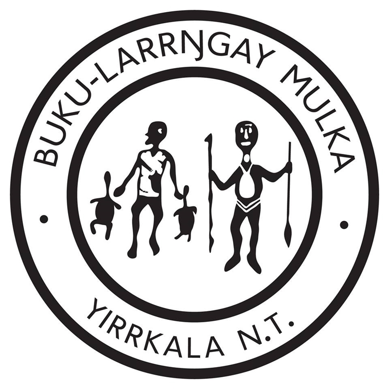 The Cross Art Projects. Buku-Larrngay Mulka Logo