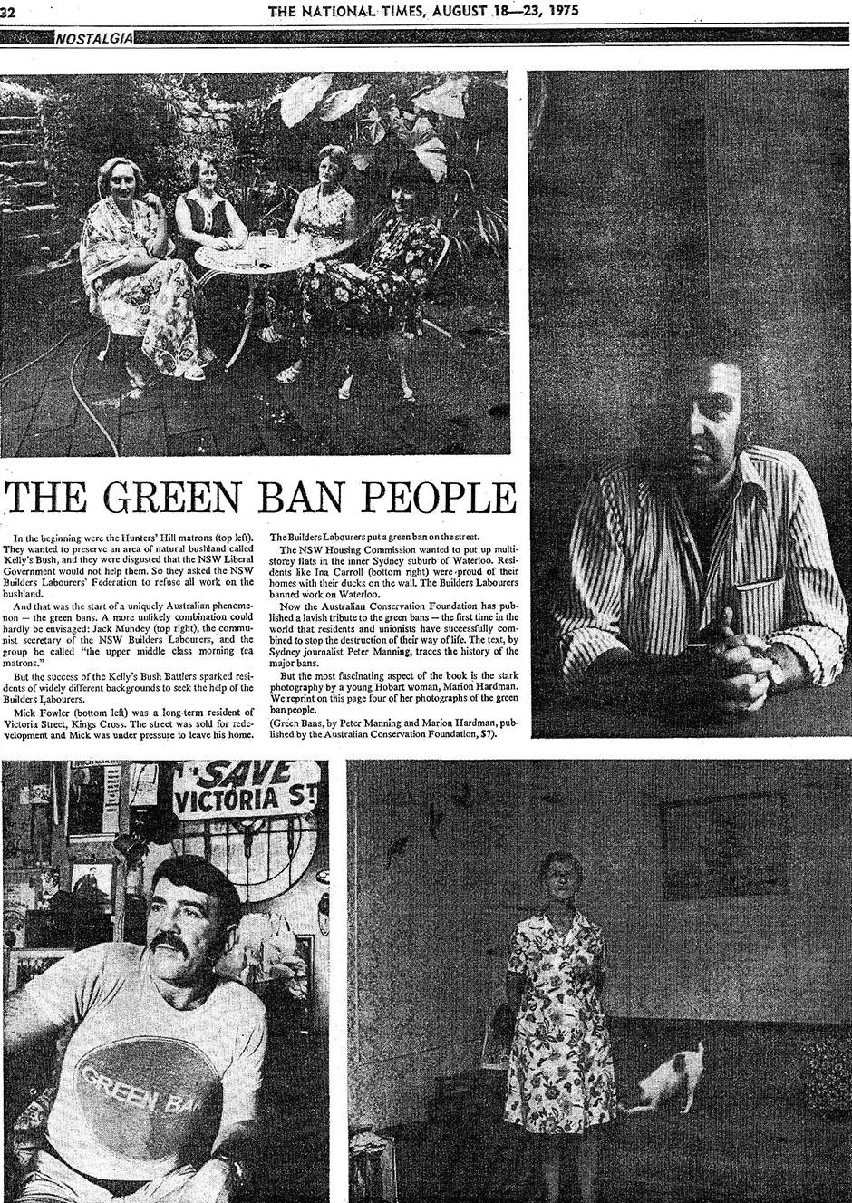 Green Bans, Article